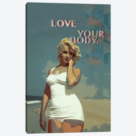 Marilyn Monroe - Love Your Body Canvas Print #FPT45} by Fanitsa Petrou Canvas Art Print