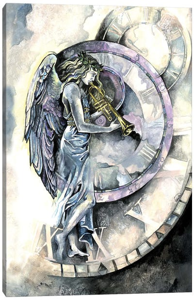 Angel Of Time Canvas Art Print