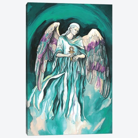 The Seven Archangels - Archangel Raphael Canvas Print #FPT49} by Fanitsa Petrou Canvas Wall Art