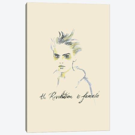 The Revolution Is Female I Canvas Print #FPT53} by Fanitsa Petrou Canvas Art Print