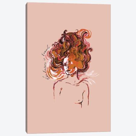The Future Is Female Canvas Print #FPT55} by Fanitsa Petrou Canvas Artwork