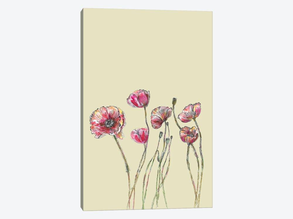Poppy Flowers I by Fanitsa Petrou 1-piece Canvas Artwork