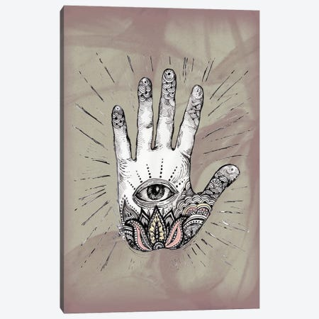 Hand With An Eye Canvas Print #FPT65} by Fanitsa Petrou Canvas Print