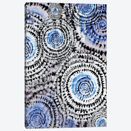 Abstract - Wheels In Blue Canvas Print #FPT66} by Fanitsa Petrou Canvas Print