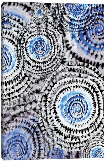 Abstract - Wheels In Blue Canvas Art Print
