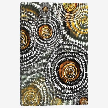 Abstract - Wheels In Yellow Canvas Print #FPT67} by Fanitsa Petrou Art Print