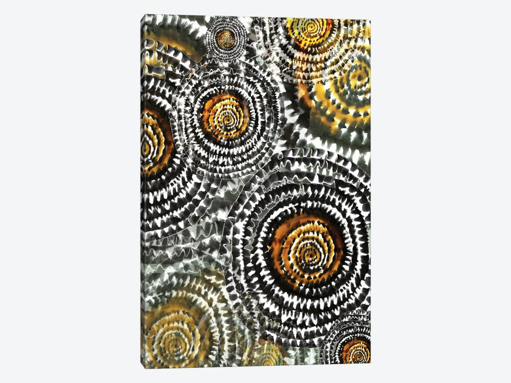 Abstract - Wheels In Yellow by Fanitsa Petrou 1-piece Canvas Print
