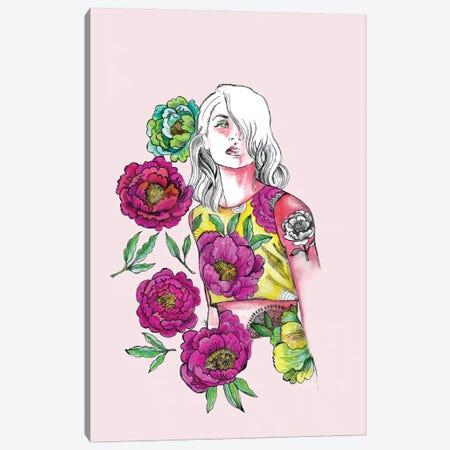 Pink And Yellow Canvas Print #FPT70} by Fanitsa Petrou Canvas Print