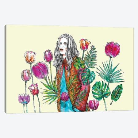 Floral Coat And Big Leaves I Canvas Print #FPT73} by Fanitsa Petrou Art Print