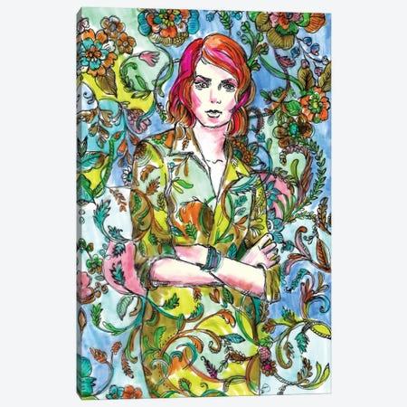 Floral Dress - Fashion Illustration Canvas Print #FPT76} by Fanitsa Petrou Canvas Art