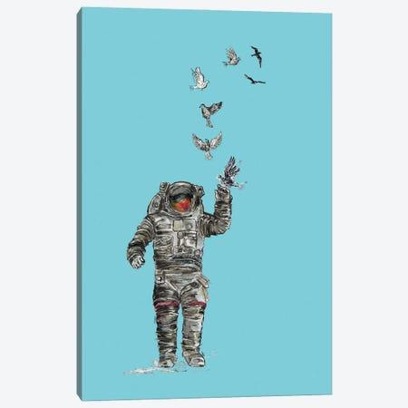 Astronaut - Space Birds II Canvas Print #FPT82} by Fanitsa Petrou Canvas Artwork