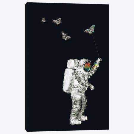 Astronaut - Space Butterflies I Canvas Print #FPT83} by Fanitsa Petrou Canvas Art