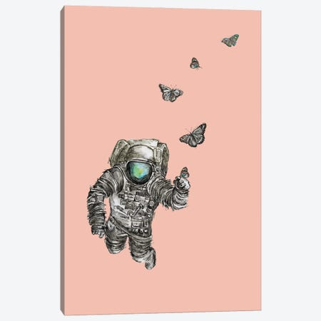 Astronaut - Space Butterflies II Canvas Print #FPT84} by Fanitsa Petrou Canvas Print