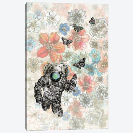 Astronaut - Space Garden Canvas Print #FPT85} by Fanitsa Petrou Canvas Print
