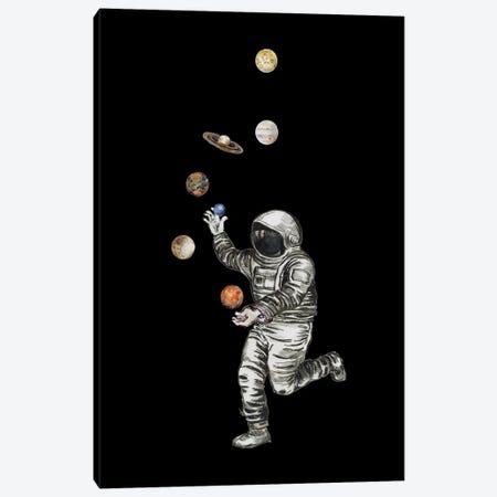 Astronaut - Planet Juggler Canvas Print #FPT86} by Fanitsa Petrou Canvas Art Print