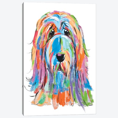 Sad Dog Canvas Print #FPW109} by Faux Paw Petique, By Debby Carman Art Print