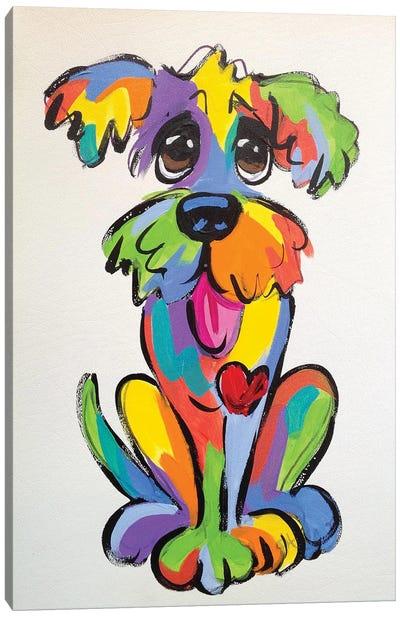 Goofy Dog Canvas Art Print