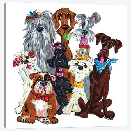 Best Of Show Canvas Print #FPW149} by Faux Paw Petique, By Debby Carman Canvas Art Print