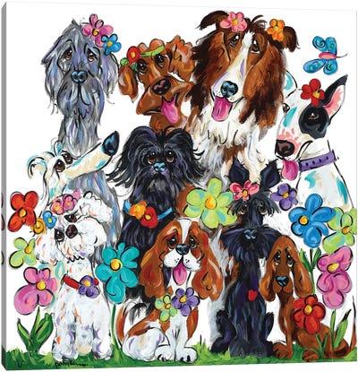 Garden Of Sunny Delight Canvas Art Print