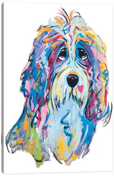 Golden Doodle Boy Canvas Art Print
