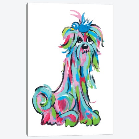 Ms. Tickles Canvas Print #FPW41} by Faux Paw Petique, By Debby Carman Canvas Print