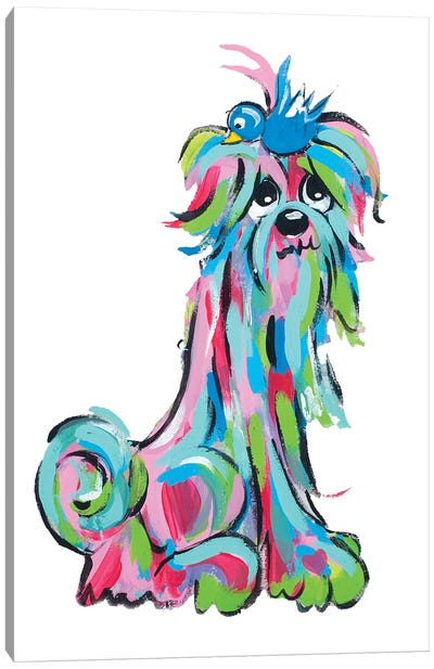 Ms. Tickles Canvas Art Print