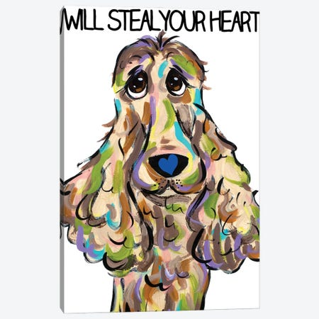 Will Steal Your Heart Canvas Print #FPW49} by Faux Paw Petique, By Debby Carman Canvas Art Print
