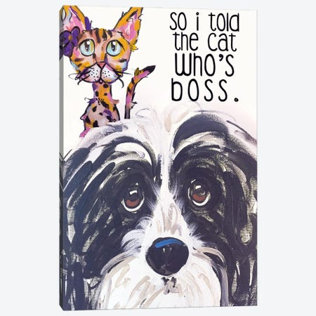 Boss Canvas Print #FPW51} by Faux Paw Petique, By Debby Carman Canvas Wall Art