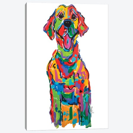 Skibble Canvas Print #FPW54} by Faux Paw Petique, By Debby Carman Art Print