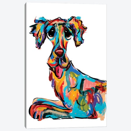 Tongue Out Canvas Print #FPW90} by Faux Paw Petique, By Debby Carman Canvas Art