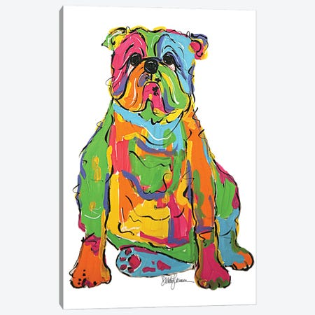 Bully Rumples Canvas Print #FPW94} by Faux Paw Petique, By Debby Carman Art Print