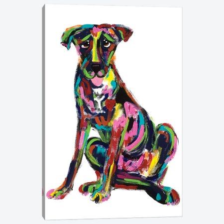 Inside Dog Canvas Print #FPW96} by Faux Paw Petique, By Debby Carman Art Print