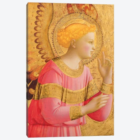 Annunciatory Angel, 1450-55 Canvas Print #FRA11} by Fra Angelico Canvas Art Print