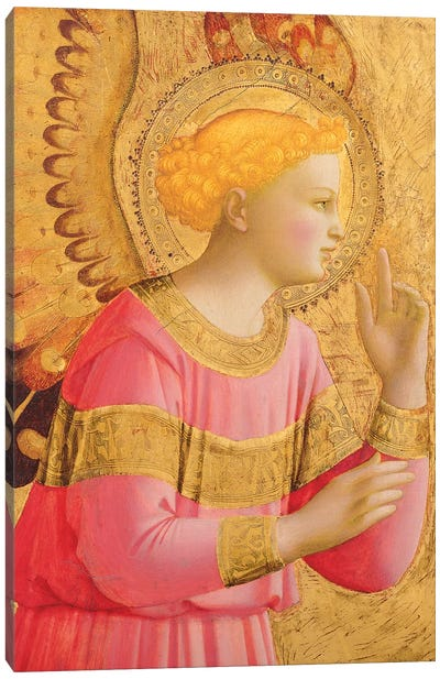 Annunciatory Angel, 1450-55 Canvas Art Print