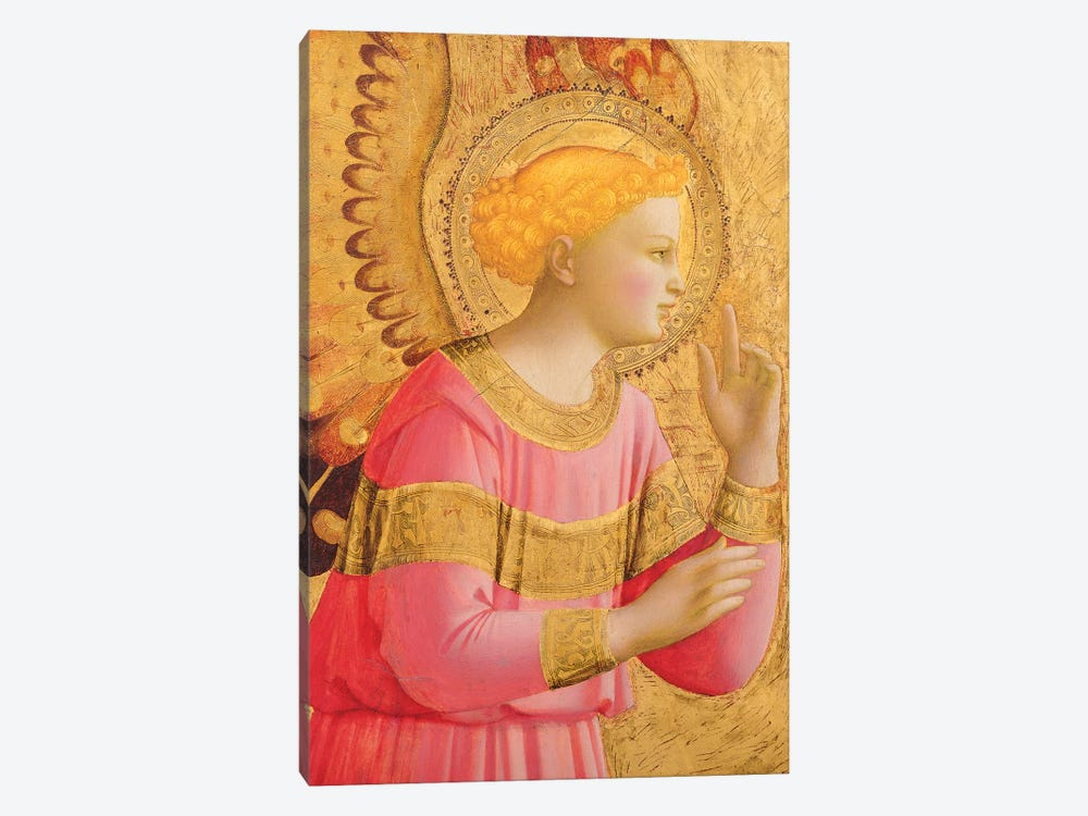 Annunciatory Angel, 1450-55 by Fra Angelico 1-piece Canvas Art Print