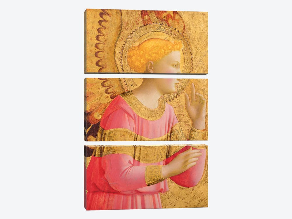 Annunciatory Angel, 1450-55 by Fra Angelico 3-piece Art Print