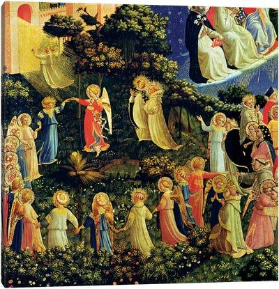 Deatil Of Paradise, The Last Judgement, c.1431 Canvas Art Print