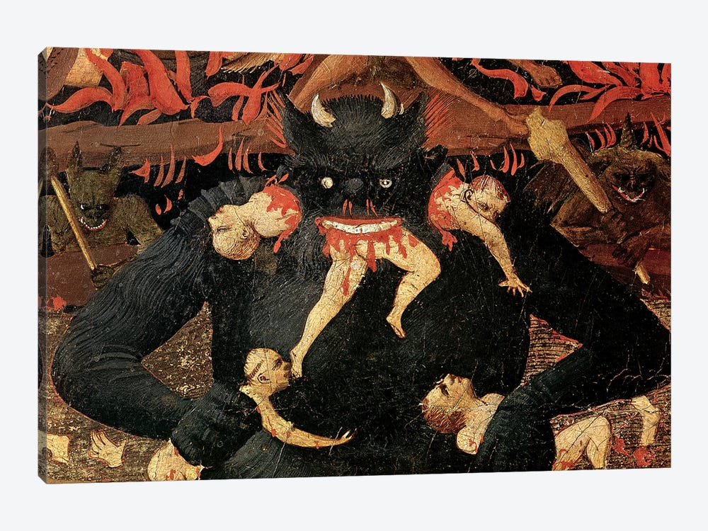Detail Of Satan Devouring The Damned In Hell, The Last Judgement, c.1431 by Fra Angelico 1-piece Art Print