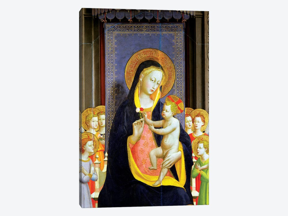 Detail Of Virgin And Child, Fiesole Altarpiece, c.1422 by Fra Angelico 1-piece Canvas Art Print
