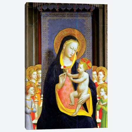 Detail Of Virgin And Child, Fiesole Altarpiece, c.1422 Canvas Print #FRA15} by Fra Angelico Canvas Wall Art