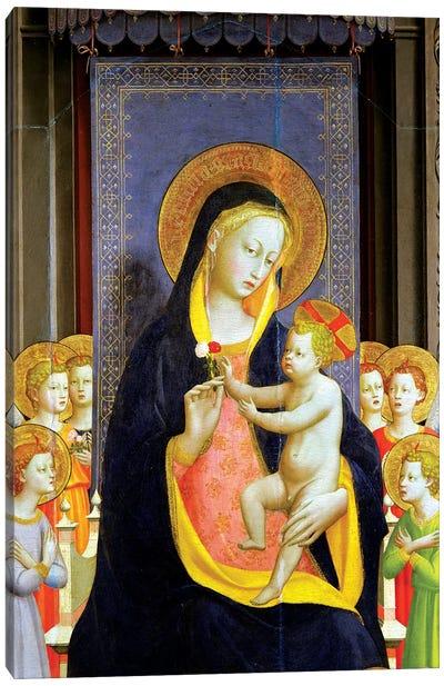 Detail Of Virgin And Child, Fiesole Altarpiece, c.1422 Canvas Art Print