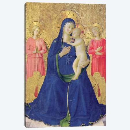 Detail Of The Enthroned Virgin And Child, Bosco ai Frati Altarpiece, 1452 Canvas Print #FRA16} by Fra Angelico Canvas Artwork