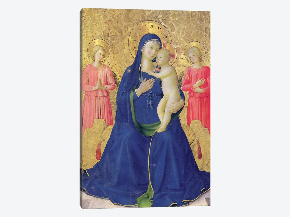Detail Of The Enthroned Virgin And Child, Bosco ai Frati Altarpiece, 1452 by Fra Angelico 1-piece Canvas Artwork