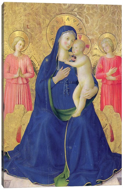 Detail Of The Enthroned Virgin And Child, Bosco ai Frati Altarpiece, 1452 Canvas Art Print