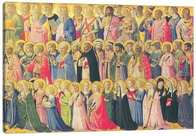 The Forerunners Of Christ With Saints And Martyrs, 1423-24 Canvas Art Print