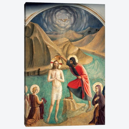 The Baptism Of Christ, 1437-45 Canvas Print #FRA18} by Fra Angelico Canvas Print