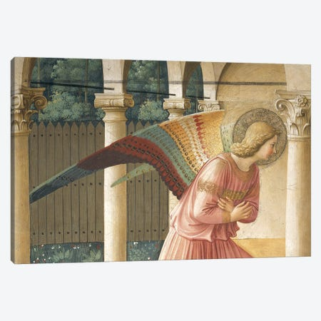 Detail Of Archangel Gabriel, The Annunciation, Convent of San Marco in Florence, 1437-45 Canvas Print #FRA19} by Fra Angelico Canvas Print
