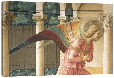 Detail Of Archangel Gabriel, The Annunciation, Convent of San Marco in Florence, 1437-45 Canvas Art Print