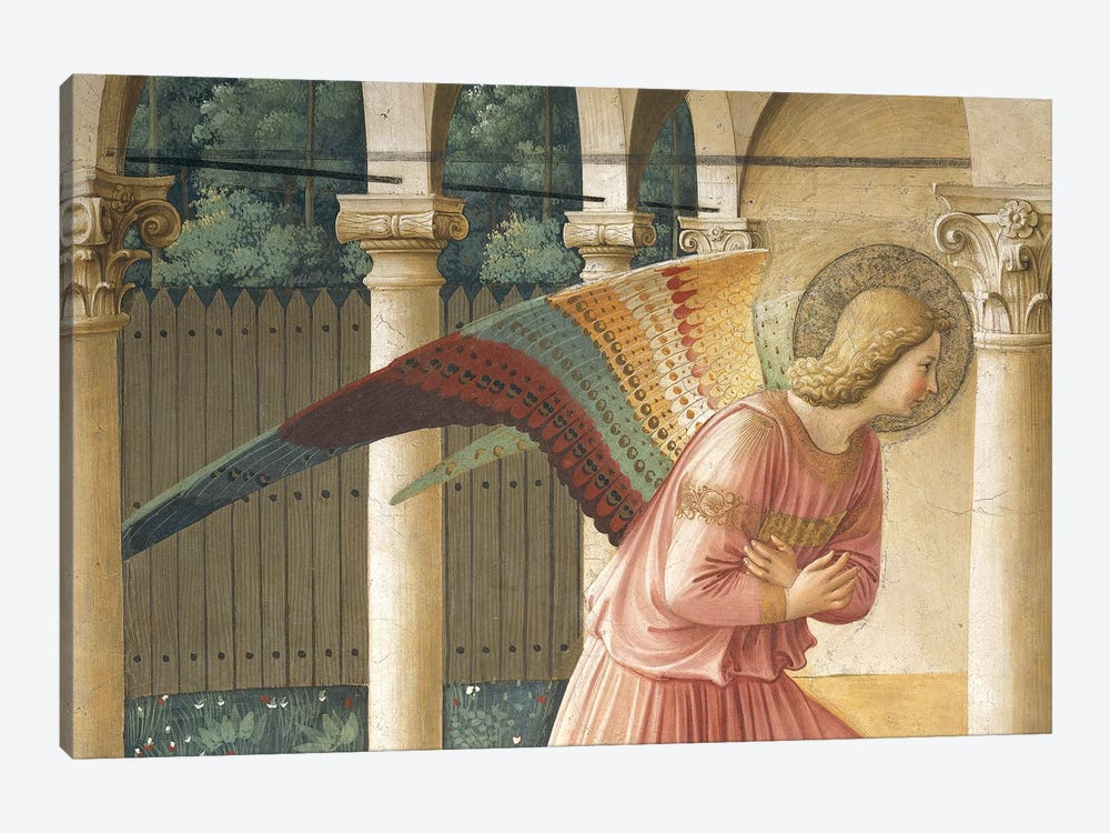 Detail Of Archangel Gabriel, The Annunciation, Convent of San Marco in Florence, 1437-45 by Fra Angelico 1-piece Canvas Print