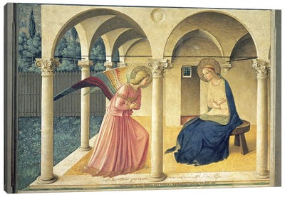 The Annunciation, Convent of San Marco in Florence, c.1438-45 (Museo di San Marco) Canvas Art Print